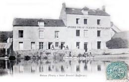AUFFARGIS, Canton De Rambouillet - Maison FLEURY à Saint-Benoist, Epicerie Et Vins, Traiteur Et Logeur - Auffargis