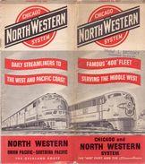Dienstregeling Horaire Chemins De Fer - Schedules Railways Chicago & North Western System Trains  1951 - World