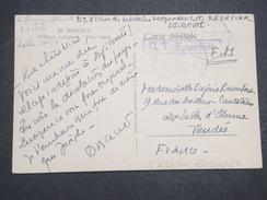 COTE FRANçAISE DES SOMALIS - Carte Postale Envoyée En FM De Djibouti Pour La France - Griffe Mission Epervier - P22130 - Lettres & Documents