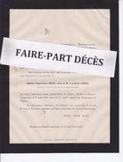 Faire-part Décès Mme Jeanne Cécile BELOT, Veuve De Jean Henri VIENNE, Capitaine De Corvette, Gevrey-Chambertin, 1880 - Décès