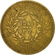 Tunisie, Anonymes, 2 Francs, 1941, Paris, TTB, Aluminum-Bronze, KM:248 - Tunisie