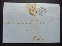 ESPAÑA ESPAGNE Carta Circulada 17/1/1871 De Igualada A Tudela Edifil N 107 - 1868-70 Gobierno Provisional