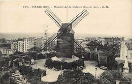 - Paris -ref-B 683- Moulin De La Galette - Moulin A Vent - Moulins A Vent - Vue Sur Place Et Quartier - 18e Arrond - - Arrondissement: 18