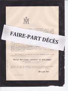 Faire-part Décès M. Henri Jacques LORENCHET DE MONTJAMONT, Conseiller Cour D'appel De Dijon, Dijon, 1887 - Esquela