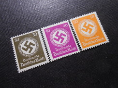 D.R.Mi 141/142/143 - 30/40/50Pf**/MNH   Dienstmarken  1934  Mi 13,00 € - Germany