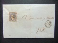 ESPAÑA ESPAGNE Carta Circulada 19/3/1872 De Igualada A Valls Edifil N 107 - 1868-70 Gobierno Provisional