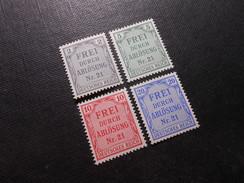 D.R.Mi 1/3/4/5 - 2/5/10/20Pf**/MNH   Dienstmarken  1903  Mi 5,80 € - Ungebraucht