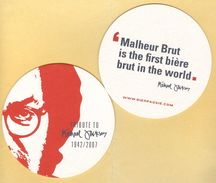 "1 S/b Bière MALHEUR ""Michael Jackson"" (recto-verso) - Beer Mats"