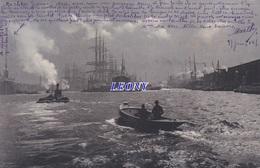 CPA   A IDENTIFIER - BATEAUX Dans La NUIT - 1904 - édit NELS BRUXELLES - Cartes Postales