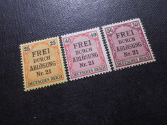 D.R.Mi 6/7/8 - 25/40/50Pf**/MNH   Dienstmarken  1903  Mi 6,50 € - Ungebraucht