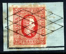 ROMANIA 1865 Prince Cuza 20 Para Used On Piece  Michel 13 - 1858-1880 Moldavia & Principality