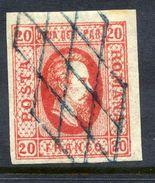 ROMANIA 1865 Prince Cuza 20 Para Used.   Michel 13x - 1858-1880 Moldavia & Principality