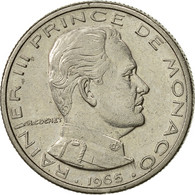 Monaco, Rainier III, 1/2 Franc, 1965, SUP, Nickel, KM:145, Gadoury:MC 149 - Monaco