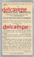 OORLOG GUERRE Maurice Hooghuys Brugge Soldaat 10 Linie Gesneuveld Te Calais 1916 Van Compernolle - Devotieprenten