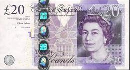 GREAT-BRITAIN ENGLAND P392b 20 POUNDS 2012 Signature Salmon VF 2 P.h. - 1952-… : Elizabeth II