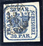 ROMANIA 1864 Eagle And Ox-head 30 Para Plate Printing, Used.   Michel 10 II - 1858-1880 Moldavia & Principality