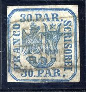 ROMANIA 1862 Eagle And Ox-head 30 Para Handstamp Printing, Used With Scarce Postmark.   Michel 10 I X - 1858-1880 Moldavia & Principality