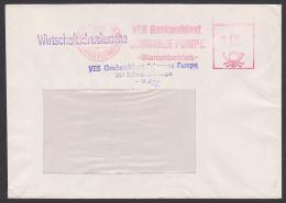 Schwarze Pumpe Corna Plumpa Zweisprachiger St. 1982 VEB Gaskombinat -Stammbetrieb - Wirtschaftsdrucksache - Lettres & Documents
