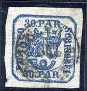 ROMANIA 1862 Eagle And Ox-head 30 Para Handstamp Printing, Used.   Michel 10 I X - 1858-1880 Moldavia & Principality