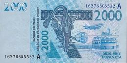 W.A.S. IVORY COST P116Aj ? 2000 FRANCS (20)16 2016  UNC. - États D'Afrique De L'Ouest