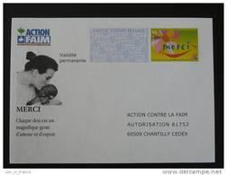 PAP Réponse Merci Action Contre La Faim - Verso 0509391 - Intérieur D/16 B 0805 - Entiers Postaux