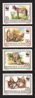 Rep. Burundi 1992 WWF  Mi.nr. 1758-1761 MNH  + 4 FDC's         Serval Cat - 1990-99: Neufs
