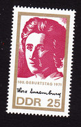 German Democratic Republic, Scott #1277, Mint Never Hinged, Rosa Luxemburg, Issued 1971 - [6] Democratic Republic