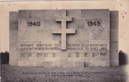 Carton Photo Format CPA - Monument Des Anciens Du Maquis & Resistance Canton Sennecey Le Grand & Maquis Corlay - France
