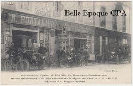35 - SAINT-MALO - Automobiles, Cycles H. PORTALIER - Mécanicien-Constructeur +++ Cliché P. G. +++ RARE / TOP - Saint Malo