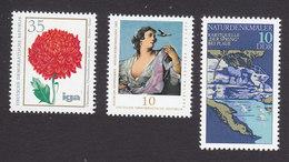 German Democratic Republic, Scott #1674, 1780, 1796, Mint Never Hinged, Flower, Painting, Spring, Issued 1975-77 - [6] Democratic Republic