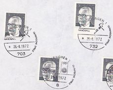 1972 COVER EVENT Olympic HANDBALL Germany Olympics Games Stamps Sport - Hand-Ball