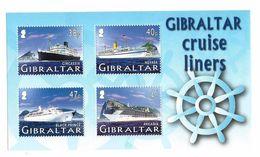2005 Gibraltar  Cruise Ships  Complete Souvenir Sheet  MNH - Gibilterra