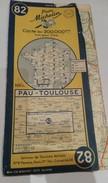 Carte Michelin 1951 Ref N° 82 Pau Toulouse - Dos Detaché - Cartes Routières