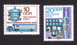 German Democratic Republic, Scott #1904-1905, Mint Never Hinged, World Telecommunications Day, Issued 1978 - [6] Democratic Republic