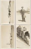 Nederland - 1946 - 4 Foto's Van Eerste Vlucht Amsterdam - New York - Vliegtuig, Piloot En Postzakken - 1946-....: Modern Tijdperk