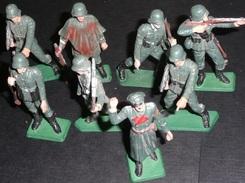 Lot Jouets Rares Soldats Plastique STARLUX Armée Allemande Ww2 Militaria - Starlux