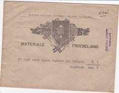 BUSTA PUBBLICITARIA - MATERIALE FROEBELIANO  - ANTONIO VALLARDI , EDITORE - MILANO - Autres