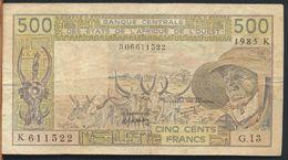 °°° AFRICA OCCIDENTALE OVEST - 500 FRANCS 1985 °°° - West African States