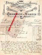 52-NOGENT-BELLE FACTURE CHAMPION MARTIN-FABRIQUE CISEAUX POUR COIFFEUR LINGERES-COIFFURE-LIGERE-45 RUE DR FLAMMARION- - Petits Métiers