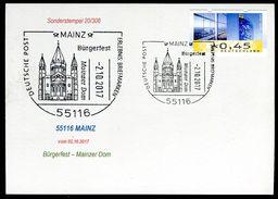 83376) BRD - Karte - SoST 55116 MAINZ Vom 02.10.2017 - Bürgerfest, Mainzer Dom, Kirche - Marcophilie - EMA (Empreintes Machines)