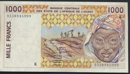 °°° AFRICA OCCIDENTALE OVEST - 1000 FRANCS °°° - Stati Dell'Africa Occidentale