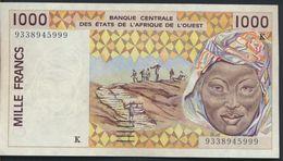 °°° AFRICA OCCIDENTALE OVEST - 1000 FRANCS °°° - États D'Afrique De L'Ouest