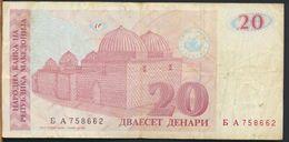 °°° MACEDONIA - 20 DENARI 1993 °°° - Macedonia