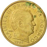 Monaco, Rainier III, 10 Centimes, 1962, TTB+, Aluminum-Bronze, KM:142 - 1960-2001 Nouveaux Francs