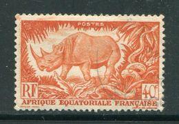 A.E.F- Y&T N°210- Oblitéré - Rhinozerosse