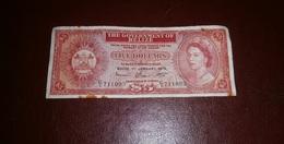 BELIZE 5 DOLLARS 1976 - Belize