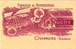 1 Cpa  PUB Fabrique De Bonnetries La Ruche Léopold Baeten Overmeire -Donck Reklame Réclame C1904 Bijenkorf - Berlare