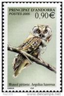 ANDORRA FRANCESA 2005 - FAUNA - MUSSOL - BUHO - OWL - HIBOU  - Yvert Nº 607 - Hiboux & Chouettes