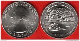 """USA Quarter (1/4 Dollar) 2014 P Mint """"Great Sand Dunes"""" UNC - Émissions Fédérales"""