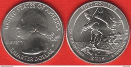 "USA Quarter (1/4 Dollar) 2016 P Mint ""Fort Moultrie"" UNC - 2010-...: National Parks"